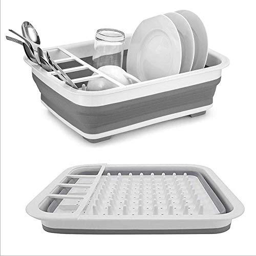 PPuujia Estante plegable para platos, organizador de cestas de cocina, escurridor, cuenco, plato de vajilla, estante de secado, suministros de cocina (color: 1 unidad)
