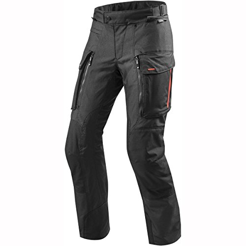 REV'IT! Pantalones de Motocicleta Sand 3 Textilhose Schwarz M, Caballeros, Enduro/Reiseenduro, Todo el año, Negro Mate