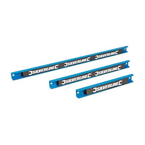 Silverline Tools 633950 - Aste magnetiche porta attrezzi (3 unità), 200, 300 y 460 mm