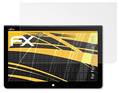 atFolix Panzerfolie kompatibel mit Fujitsu Stylistic Q704 Schutzfolie, entspiegelnde & stoßdämpfende FX Folie (2X)