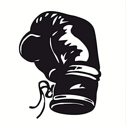 Zykang 3D Wandaufkleber Modische Boxen Sport Wandtattoos Wohnkultur Wohnzimmer Vinyl Boxhandschuh Wandaufkleber Für Jungen Aushöhlen Design 56 * 76 Cm