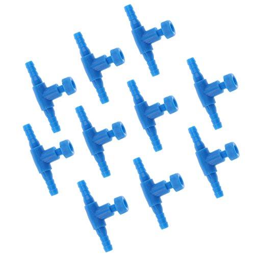 Homyl 10 Stück Aquarium Luftpumpe Zubehör (Luftventil, Rückschlagventil, Schlauchanschluss) - Luftventil Typ 2