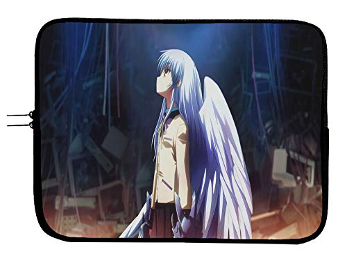 Anime Angel Beats 15 Inch Laptop Sleeve Bag Mousepad Surface Notebook Sleeve Mac Book Pro Case Bag Sleeve/MacBook Air Surface Pro Laptop/Tablet Water Repellent Neoprene Cushioned Case