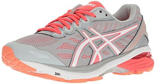 Asics Gt-1000 5 Zapatillas de correr para mujer, Gris (gris medio/blanco/rosado (Mid Grey/White/Diva Pink)), 35.5 EU