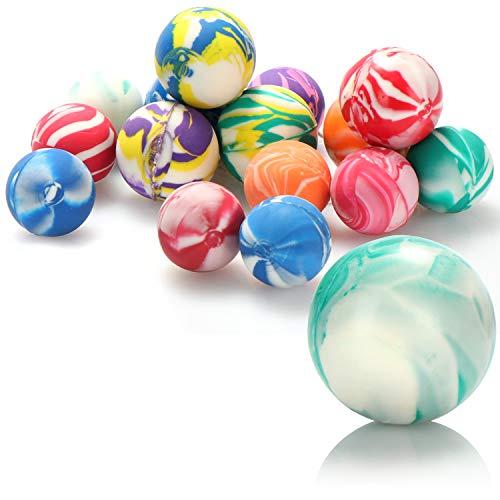 com-four® 16x Bolas saltarinas para Jugar con los niños - Bolas saltarinas como un pequeño Regalo de cumpleaños - Bolas saltarinas de Colores en Diferentes tamaños