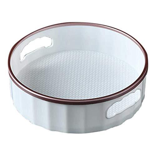 Lazy Susan - Bandeja de almacenamiento giratoria, soporte giratorio para condimentos, organizador de armario de mesa giratoria, para cocina, aceite, latas, tarros