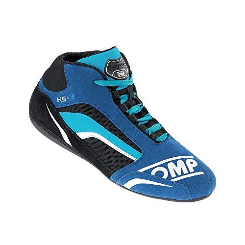 OMP OMPIC/81324142 Zapatillas, Azul/Negro/Cian, Talla 42