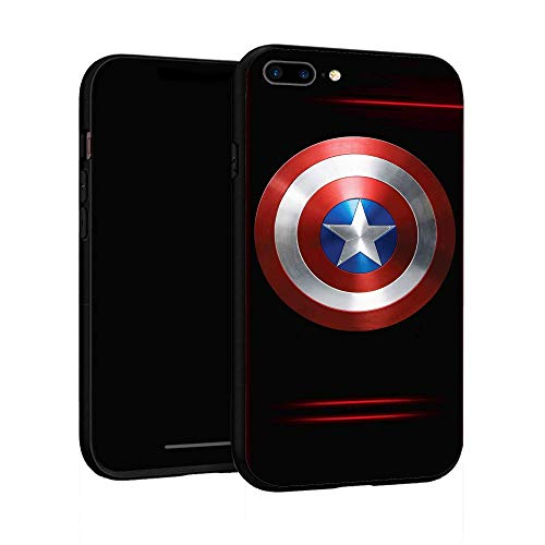Funda para iPhone 7 Plus Funda 8 Plus, Funda básica de plástico para iPhone 7Plus / 8Plus (Capitán América-3)