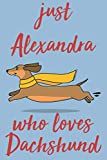 Just Alexandra Who Loves Dachshund: Personalized Dachshund Sketchbook & Journal For Girls Who Loves Dachshund and Dogs in General. 6'x9' - 100 Pages ... & Create Art! . dachshund Notebook - Dogs