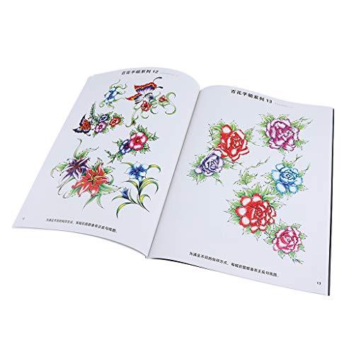 MagiDeal 190 Page Livre de Tatouage de Corps Motifs Fleur pour Tatouage Temporaire
