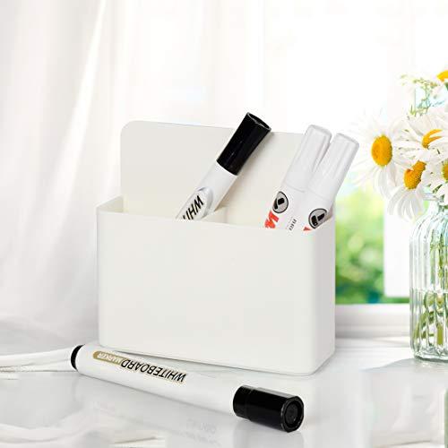 2 Pack Magnetic Dry Erase Marker Holder, Whiteboard Marker Holder, Mighty-magnetic Marker Pen Organizer for Whiteboards (White) Photo #5