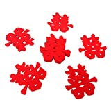 Package includes: 120PCS Wedding Festive Decoration Word Material: Non-woven Capacity: 48*48mm/1.89*1.89inch Used in weddings, parties, birthday parties, daily life, the small red non-woven wedding characters thrown or sprinkled on the wedding bed ar...