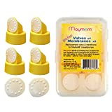 Replacement Valve and Membrane Compatible with Medela Breastpumps (Swing, Lactina, Pump in Style), 4X Valves/6x Membranes, Part #87089; Repaces Medela Valve and Medela Membrane