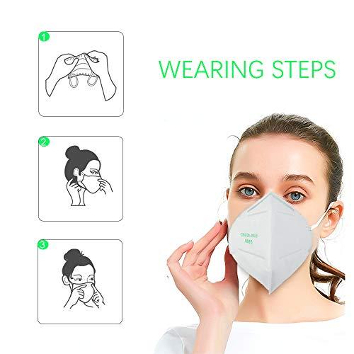 undefined Decdeal- 10 Pezzi Respiratore KN95/FFP2,Protezione per Il Viso per Adulti,95% Filtrazione,Conformarsi allo Standard GB2626-2006