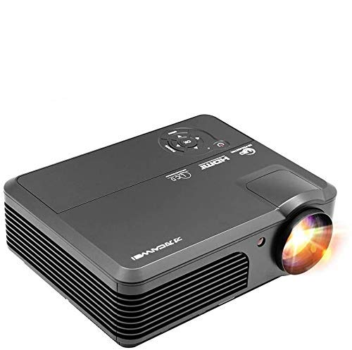 4400 Lumen Home Theater Projector Support 1080P for Netflix Movies TV Gaming PS4 Laptops Phone Blu-ray DVD Mac, LED LCD HD Video Projector Indoor Outdoor Home Cinema Built-in Speakers Zoom