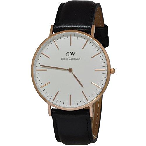 Daniel Wellington Herren-Armbanduhr Analog Quarz Leder DW00100007