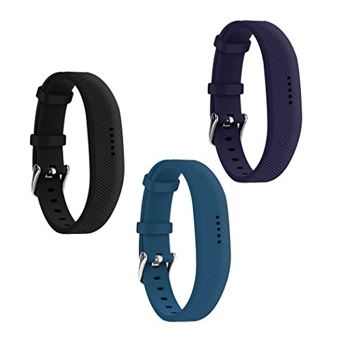 EverActReplacement Bands for Fitbit Flex 2 (3 Pack) Watch-Type Buckle Designed Band 1