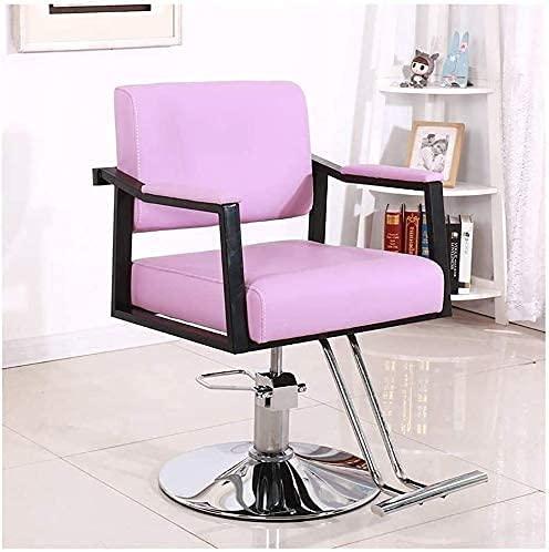 HZYDD Silla nueva, silla de oficina, silla giratoria de salón de belleza, silla de estilo profesional de salón, silla giratoria de oficina hidráulica (color: rosa)