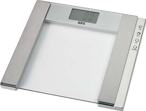 Personenwaage (im Edlen Glas-Design, 5 in 1 Multi-Analyse-Waage, Messbereich Bis 150 Kg, zur Gewichtsanalyse, Körperfett, Muskelmasse, Knochenmasse & Wassernanteil, LCD-Display) NEU + OVP