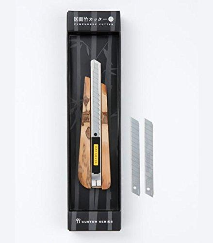 BIGMAN(ビッグマン) 竹柄のカッター オルファ(OLFA)とのコラボレーション 竹カスタムシリーズ 図面竹 カッター小