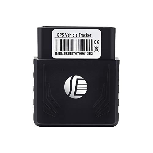Voupuoda Mini OBD II Dispositivo GPS para rastreo de vehículos en Tiempo Real Rastreador de GPS Mini Dispositivo GPRS para...
