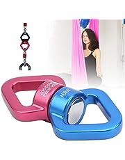 Conector de columpio para yoga Fabricación profesional 2 aberturas anchas para los ojos con hebillas, para columpio en red, rotores de columpio N, cinturones de columpio para árboles,(Red and blue)