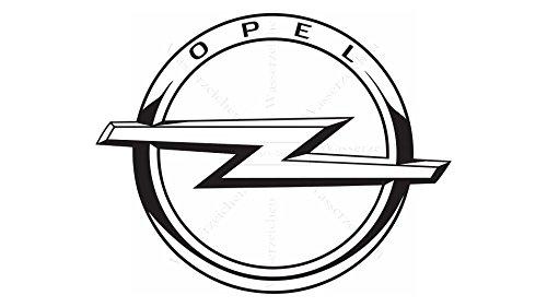 Sticker-Designs 5cm!4Stück! Klebe-Folie Wetterfest Made-IN-Germany kompatibel für: Opel 2009 Schwarz Logo Auto AD324 UV&Waschanlagenfest Auto-Aufkleber-Rad-Narbenkappen-Deckel-Tuning