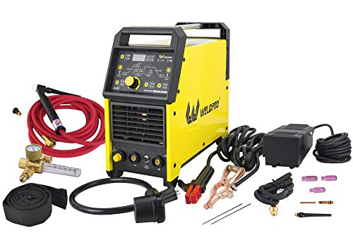 Weldpro Digital TIG 200GD ACDC 200 Amp Tig/Stick Welder with Pulse CK 17 Worldwide Superflex Torch 3...