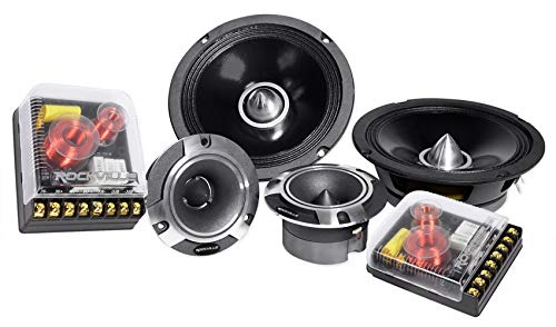 "Pair Rockville X6.5C Competition 6.5"" 1000W Component Speakers/Titanium Tweeters"