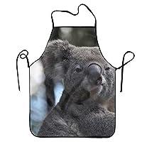 オーストラリアのコアラエプロン ロング ポケット付 料理 仕事 作業用 おしゃれ 首掛け カフェ風 男女兼用 大人 レディース メンズ フリーサイズ