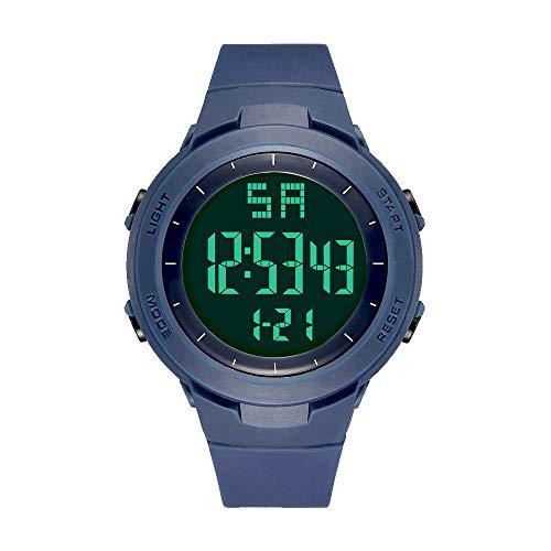 READ Digital Sport Armbanduhr, Outdoor Digital Sportuhr Uhren Wasserdichter Countdown/stoppuhr/Alarm mit LED Hintergrundbeleuchtung (R90008-Blue)