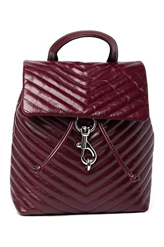 Rebecca Minkoff Edie Flap Backpack Bordeaux One Size