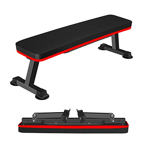 Gym Quality Foldable Flat Bench for Multi-Purpose Weight Training and Ab Exercises