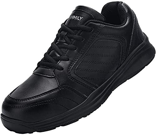 DYKHMILY Chaussure de Sécurité Homme Femme Chaussures Cuisine S3 Embout de Protection en Acier Chaussures de Travail(PU Noir,43)