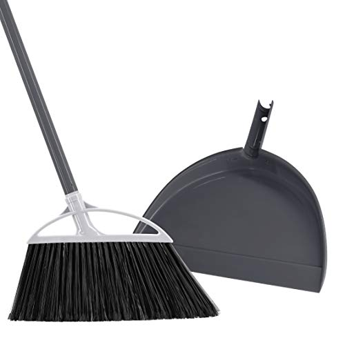 Radley & Stowe Angle Broom and Dustpan Set (Grey)