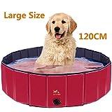 Zacro 120cm Hundepool Haustierpool Planschbecken Swimmingpool für die Haustier wie Hunde