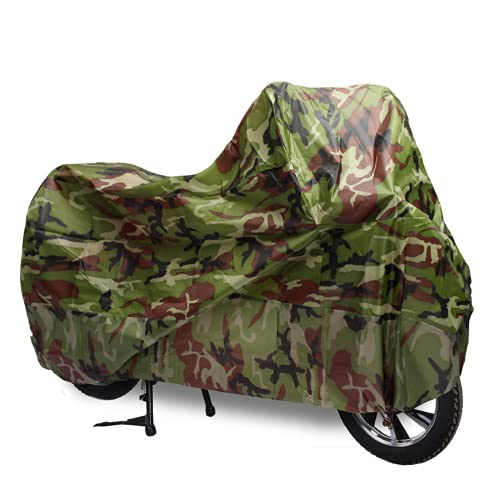Camuflaje motocicleta impermeable cubierta al aire libre UV protector bicicleta lluvia polvo scooter cubiertas (XL)
