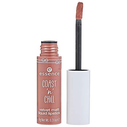 Essence Coast n Chill Velvet matt liquid Lipstick Nr. 01 smooth & Move Inhalt: 9g Flüssiger Lippenstift für samtig-matte Lippen.