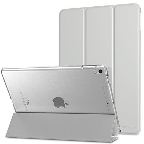 MoKo Smart Cover per New iPad Air (3rd Generation) 10.5  2019   iPad Pro 10.5 2017 - Ultra Sottile Leggero Custodia con Auto Sveglia Sonno con Retro Semi-trasparente Rigido, Argento