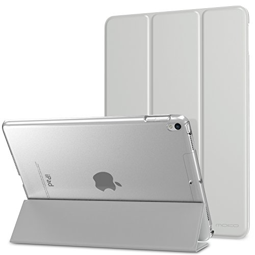 MoKo Case Fit New iPad Air (3rd Generation) 10.5' 2019/iPad Pro 10.5 2017 - Slim Lightweight Smart Shell Stand Cover with Translucent Frosted Back Protector - Silver (Auto Wake/Sleep)