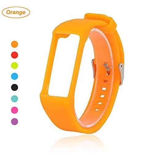Bemodst® Armband für Polar A360 Fitness-Tracker, Ersatzzubehör Uhrenarmband, weiches Silikon Schreibband Armband für Polar A 360 Smartwatch, Orange