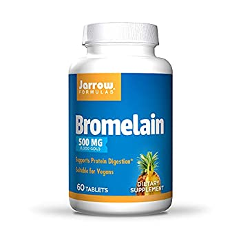 Jarrow Formulas Bromelain 500 mg - 60 Tablets - Protein-Digesting Enzymes from Pineapple - Aids & Supports Protein Digestion - Suitable for Vegans - Up to 60 Servings