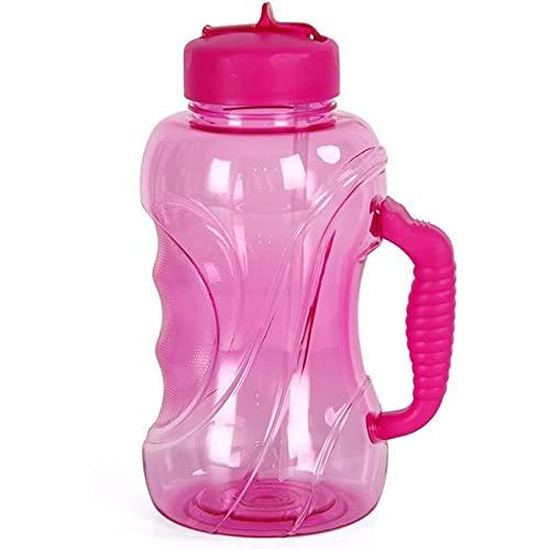 1500 Ml Capacidad De Gran Capacidad Espacio Deportivo Kettle Portátil Viajar Paja Botella De Agua con Empuñadura Botella De Agua De 1,5 L Pink