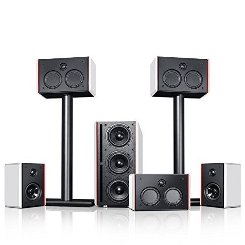 Teufel System 4 THX Schwarz/Weiß Heimkino Lautsprecher 5.1 Soundanlage Kino Raumklang Surround Subwoofer Movie High-End HiFi Speaker