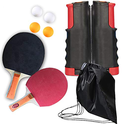 Best Price Pearlead 2-Player Ping Pong Paddle Set Table Tennis Paddle Set with Retractable Net Balls...