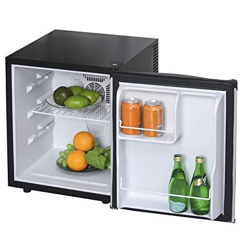 HOMCOM Mini Kühlschrank Kühlbox Getränkekühlschrank Mini-Bar 50L 3 Ebenen Schwarz+Silber 43 x 48 x 51 cm