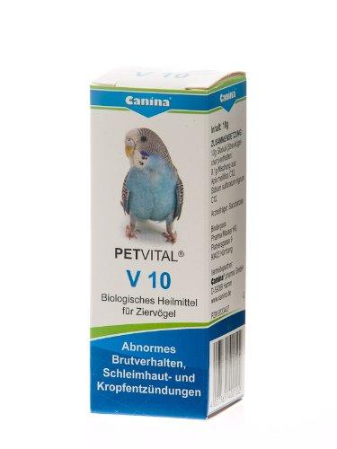 Canina 40010 2 Petvital V 10 10 g Globuli für Vögel