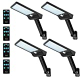 Remote Solar Lights Outdoor Auzev 4 Pack 56 Led Street lamp Wireless Motion...