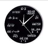 Waofe Números De Ingeniería Matemáticas Reloj De Pared Ecuación Matemática Reloj Decorativo Pop Quiz Arte De La Pared Ciencia Regalo para Matemáticos Frikis Y Maestros