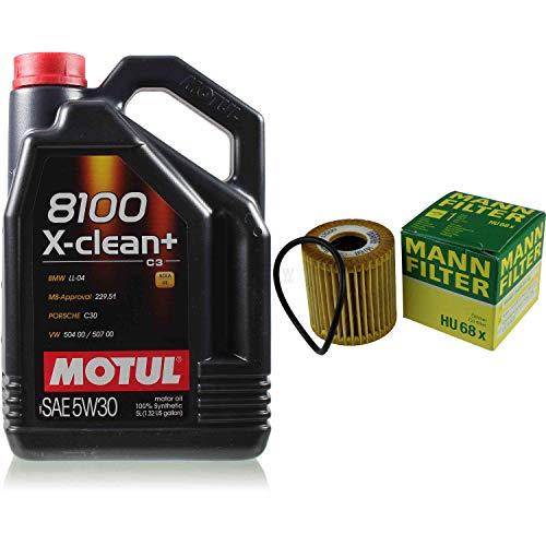 MOTUL 5 L 5W-30 MOTOR-ÖL+MANN-FILTER Smart Fortwo Coupe 451 0.8 CDI 450